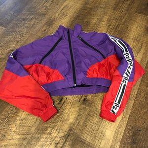 LF THE BRAND WINDBREAKER CROP JACKET TOP WOMENS